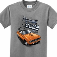 Dodge 1970 Plymouth Hemi Cuda Kids Shirts