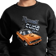 Dodge 1970 Plymouth Hemi Cuda Kids Sweat Shirt