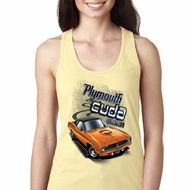 Dodge 1970 Plymouth Hemi Cuda Ladies Ideal Tank Top