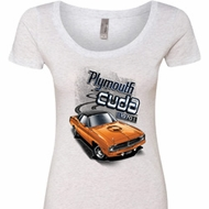 Dodge 1970 Plymouth Hemi Cuda Ladies Scoop Neck Shirt