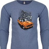 Dodge 1970 Plymouth Hemi Cuda Long Sleeve Thermal Shirt