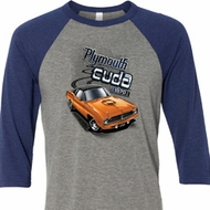 Dodge 1970 Plymouth Hemi Cuda Mens Raglan Shirt