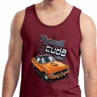 Dodge 1970 Plymouth Hemi Cuda Mens Tank Top