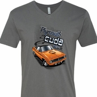 Dodge 1970 Plymouth Hemi Cuda Mens V-Neck Shirt