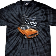 Dodge 1970 Plymouth Hemi Cuda Spider Tie Dye Shirt