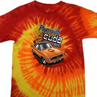 Dodge 1970 Plymouth Hemi Cuda Tie Dye Shirt