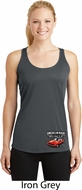 Dodge American Made Muscle Bottom Print Ladies Dry Wicking Racerback