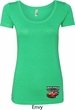 Dodge American Made Muscle Bottom Print Ladies Scoop Neck Shirt
