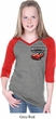Dodge American Made Muscle Pocket Print Girls Three Quarter V-Neck
