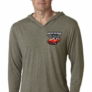 Dodge American Made Muscle Pocket Print Lightweight Hoodie Shirt
