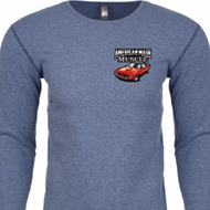 Dodge American Made Muscle Pocket Print Long Sleeve Thermal Shirt