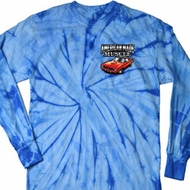 Dodge American Made Muscle Pocket Print Long Sleeve Tie Dye Shirt