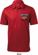 Dodge American Made Muscle Pocket Print Mens Textured Polo Shirt