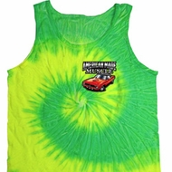 Dodge American Made Muscle Pocket Print Tie Dye Tank Top
