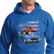 Dodge American Muscle Blue and Red Hoodie