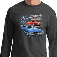Dodge American Muscle Blue and Red Long Sleeve Shirt