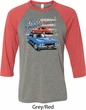 Dodge American Muscle Blue and Red Mens Raglan Shirt