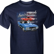 Dodge American Muscle Blue and Red Tall Shirt
