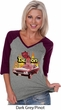 Dodge Demon Ladies V-neck Raglan