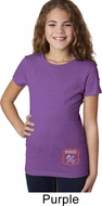 Dodge Garage Bottom Print Girls Purple Shirt
