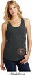 Dodge Garage Bottom Print Ladies Racerback Tank Top