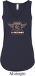 Dodge Garage Hemi Ladies Flowy V-neck Tank Top