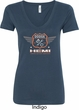 Dodge Garage Hemi Ladies V-Neck Shirt