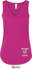 Dodge Guts and Glory Ram Bottom Print Ladies Flowy V-neck Tank Top