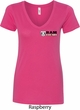 Dodge Hemi Pocket Print Ladies V-Neck Shirt