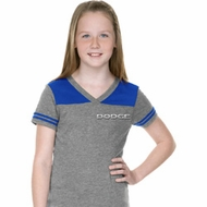 Dodge Logo Pocket Print Girls Football Shirt