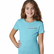 Dodge Logo Pocket Print Girls Shirt