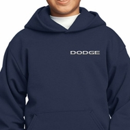 Dodge Logo Pocket Print Kids Hoody