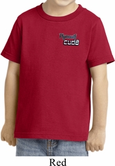 Dodge Plymouth Cuda Pocket Print Toddler Shirt