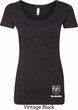 Dodge Ram Logo Bottom Print Ladies Scoop Neck Shirt