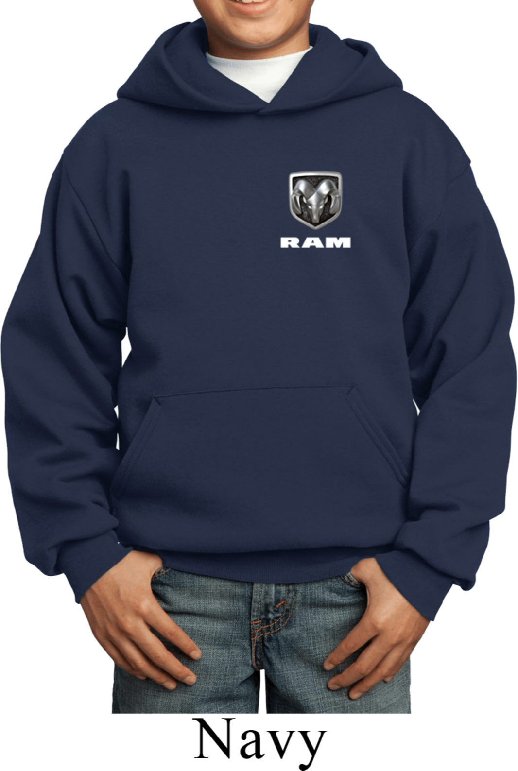 Dodge Ram Hoodie >> Dodge Ram Logo Pocket Print Kids Hoody - Dodge Ram Logo Pocket Print Kids Shirts