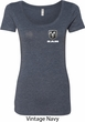 Dodge Ram Logo Pocket Print Ladies Scoop Neck Shirt
