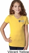 Dodge Ram Trucks Pocket Print Girls V-Neck Shirt