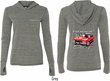 Dodge Red Challenger (Front & Back) Ladies Tri Blend Hoodie
