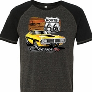 Dodge Route 66 Charger RT Mens Tri Blend Shirt
