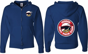 Dodge Scat Pack Logo (Front & Back) Full Zip Hoodie