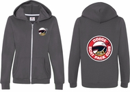 Dodge Scat Pack Logo (Front & Back) Ladies Full Zip Hoodie