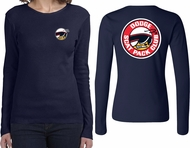 Dodge Scat Pack Logo (Front & Back) Ladies Long Sleeve