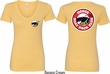 Dodge Scat Pack Logo (Front & Back) Ladies V-neck