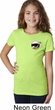 Dodge Scat Pack Logo Pocket Print Girls Shirt