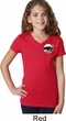 Dodge Scat Pack Logo Pocket Print Girls V-Neck Shirt
