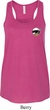 Dodge Scat Pack Logo Pocket Print Ladies Flowy Racerback Tanktop