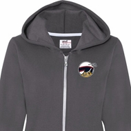Dodge Scat Pack Logo Pocket Print Ladies Full Zip Hoodie