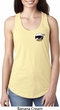 Dodge Scat Pack Logo Pocket Print Ladies Ideal Tank Top