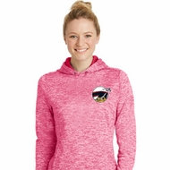 Dodge Scat Pack Logo Pocket Print Ladies Moisture Wicking Hoodie