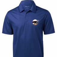 Dodge Scat Pack Logo Pocket Print Mens Textured Polo Shirt